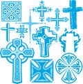 Cross collection clip art of icons and symbols Stock Photography