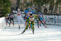 Cross-country ski race Stock Photo