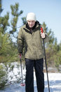 Cross-country skiing Stock Image