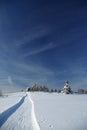 Beh na lyžiach v slovenských horách