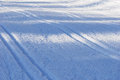 Cross country tracks detail Royalty Free Stock Photo