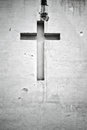 Cross figure religion wall Royalty Free Stock Photo
