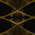 Cross Gold Fractal Concept With Black Shadow Royalty Free Stock Photo