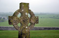 Cross on the graveyard and nature landscape Royalty Free Stock Photo