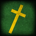 Cross on green grunge Royalty Free Stock Photos