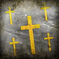 Cross on grunge background abstract Royalty Free Stock Photo