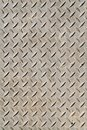 Cross hatched metal plate anti skid surface background pattern Royalty Free Stock Photo