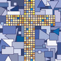 Cross illustration of mosaic of religion Royalty Free Stock Images
