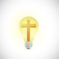 Cross and light bulb illustration design Royalty Free Stock Photo