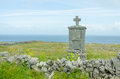 Cross lonely in ireland aran islands Stock Image