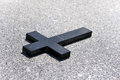Cross on the marble Royalty Free Stock Photo