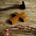 Cross, nail and crown of thorns of Jesus Christ Royalty Free Stock Photo