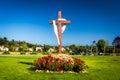 Cross at Old Mission Santa Barbara, in Santa Barbara, California Royalty Free Stock Photo