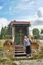 Cross before orthodox church