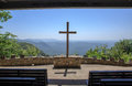 Cross Outdoor Chapel Mountain View Greenville County SC Royalty Free Stock Photo