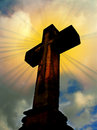 Cross and rays of light Royalty Free Stock Photography
