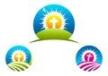 Cross Religious symbol, crucifix logo design and icon