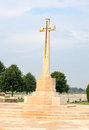 Cross of sacrifice bedford house cemetery the Royalty Free Stock Photo