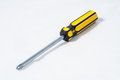 Cross screwdriver a on white blackground Royalty Free Stock Image
