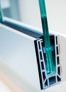 Cross section of a PVC window Royalty Free Stock Photo
