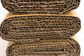 Cross sections of corrugated cardboard Royalty Free Stock Photo