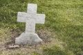 Cross shaped blank Headstone Royalty Free Stock Photo