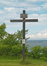 Cross on shores of lake ontario Royalty Free Stock Photos