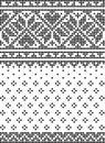 Cross stich, set of seamless patterns