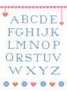 Cross stitch alphabet Royalty Free Stock Image