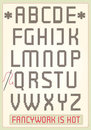 Cross stitch alphabet Stock Image