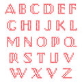 Cross stitch alphabet lower case letters Stock Images