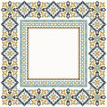 Cross stitch borders collection Royalty Free Stock Photo