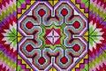 Cross stitch cloth colorful background Stock Photo