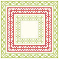 Cross-stitch embroidery - set of borders Royalty Free Stock Photo