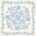 Cross-stitch embroidery in Ukrainian style Royalty Free Stock Images