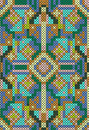 Cross stitch ethnic seamless pattern vector illustration of hand made embroidery effect Royalty Free Stock Photo