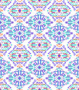 Cross stitch ethnic seamless pattern vector illustration of hand made embroidery effect Royalty Free Stock Photography