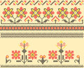 Cross stitch folk sewing Royalty Free Stock Image