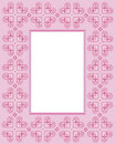 Cross stitch frame Royalty Free Stock Photos