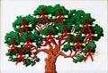 Cross-stitch money  tree Royalty Free Stock Photography