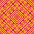 Cross stitch ornament seamless background Royalty Free Stock Photo