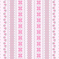 Cross-stitch pattern in pink Stock Photos