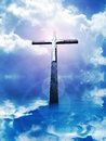 Cross in sunrays Royalty Free Stock Images