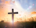 The cross on sunset Royalty Free Stock Photo