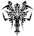 Cross tattoo Stock Photography