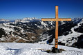 Cross At The Top Royalty Free Stock Photo
