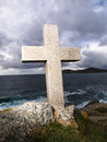 Cross tribute to sailors lost at sea this is located in ferrol galicia spain Stock Photography