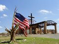 The Cross Triumphs over Joplin Stock Photography