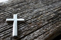 Cross on Wood Royalty Free Stock Photos