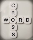 Cross word puzzle tile letters Royalty Free Stock Photos